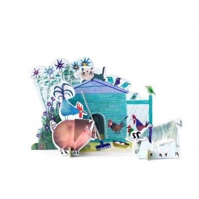 "Studio ROOF pop-out atvirukas ,,Little farm"""
