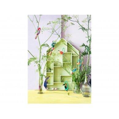 "Studio ROOF pop-out atvirukas ,,Swinging parakeets"" 2"
