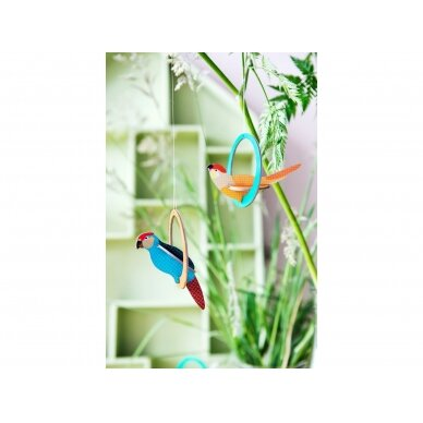 "Studio ROOF pop-out atvirukas ,,Swinging parakeets"" 3"