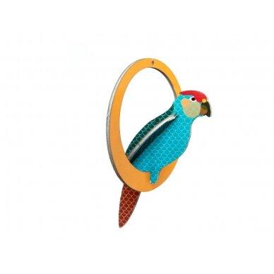 "Studio ROOF pop-out atvirukas ,,Swinging parakeets"" 4"