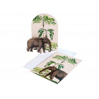 "Studio ROOF pop-out atvirukas ,,Tropical elephant"""
