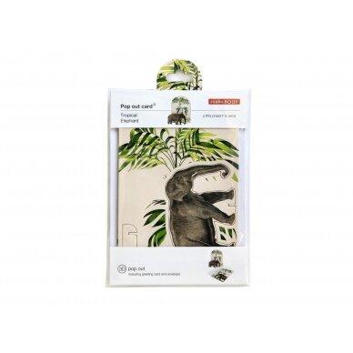 "Studio ROOF pop-out atvirukas ,,Tropical elephant"" 3"