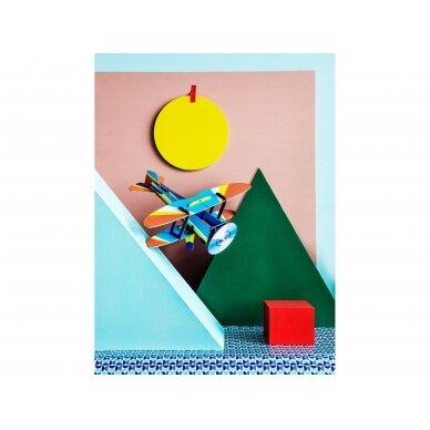 "Studio ROOF popierinis 3D lėktuvas ,,Biplane"" 2"