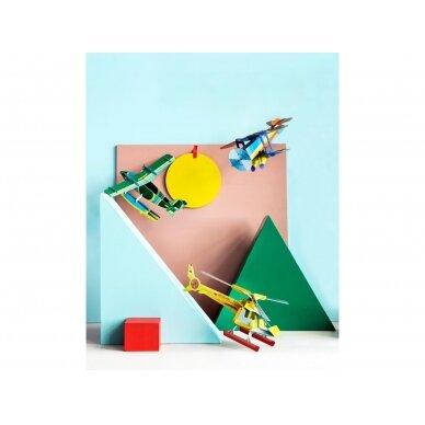 "Studio ROOF popierinis 3D lėktuvas ,,Biplane"" 3"