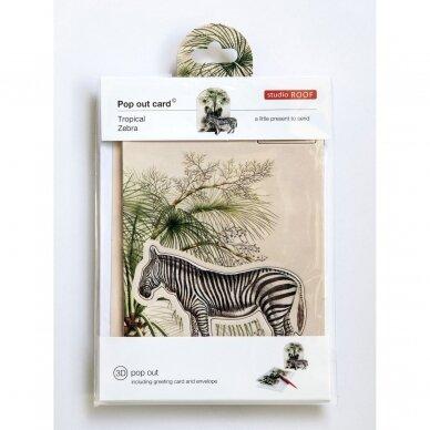 """Studio ROOF pop-out atvirukas ,,Tropical zebra"""" 2"""