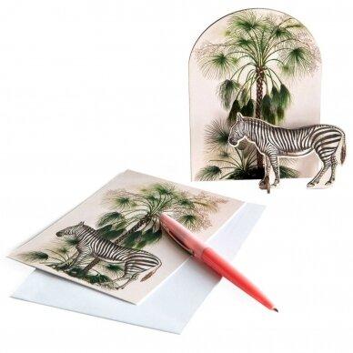 """Studio ROOF pop-out atvirukas ,,Tropical zebra"""""""