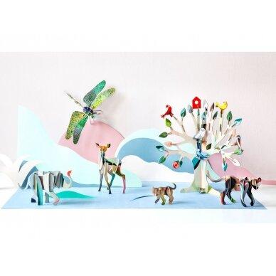 "Studio ROOF 3D totemas iš perdirbto kartono ,,Elephant"" 3"