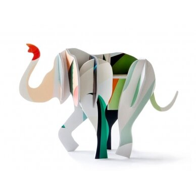 "Studio ROOF 3D totemas iš perdirbto kartono ,,Elephant"""
