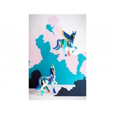 """Studio ROOF totemas iš perdirbto kartono ,,Unicorn"""" 2"""