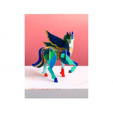"""Studio ROOF totemas iš perdirbto kartono ,,Pegasus"""" 3"""