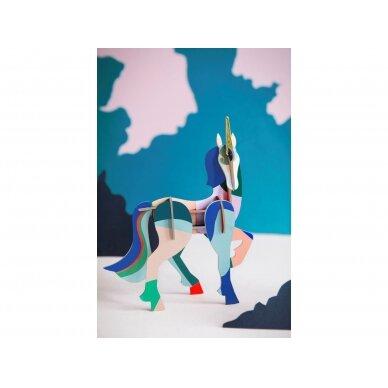 """Studio ROOF totemas iš perdirbto kartono ,,Unicorn"""" 3"""