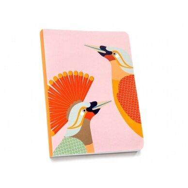 """Studio ROOF užrašų knygelė ,,Paradise bird Obi"""" (A5)"""