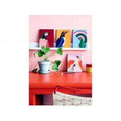 """Studio ROOF užrašų knygelė ,,Paradise bird Rani"""" (A5) 2"""