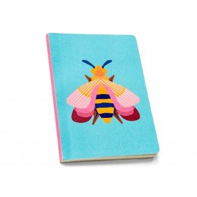 """Studio ROOF užrašų knygelė ,,Pink bee"""" (A6)"""
