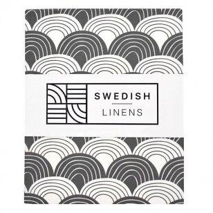 "Swedish Linens paklodė ,,Rainbows: graphite"""