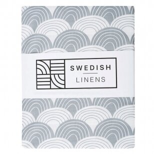 Swedish Linens paklodė ,,Rainbows: gray""