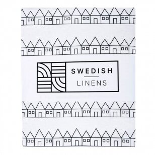 Swedish Linens paklodė ,,Lindbacken: black and white''