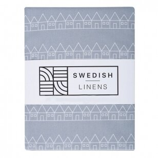 Swedish Linens paklodė ,,Lindbacken: gray''