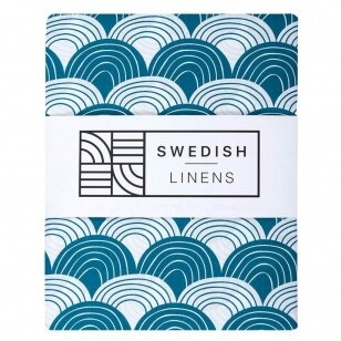 Swedish Linens paklodė ,,Rainbows: moroccan blue""