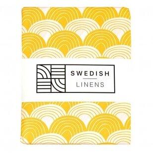 "Swedish Linens paklodė ,,Rainbows: mustard yellow"" (60x120 cm)"