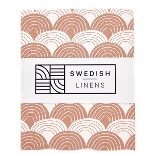"Swedish Linens paklodė ,,Rainbows: terracotta pink"""