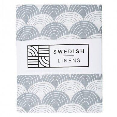 "Swedish Linens paklodė ,,Rainbows: gray"""