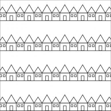 Swedish Linens paklodė ,,Lindbacken: black and white'' 2