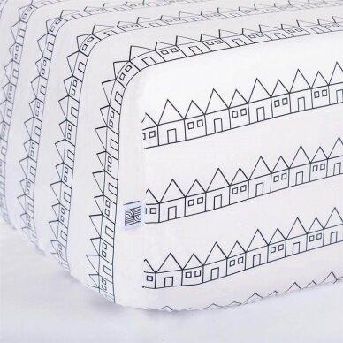 Swedish Linens paklodė ,,Lindbacken: black and white'' 3