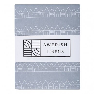 Swedish Linens paklodė ,,Lindbacken: gray''