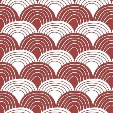 "Swedish Linens paklodė ,,Rainbows: burgundy"" (60x120 cm) 2"