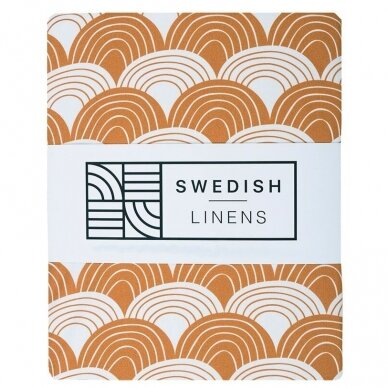 """Swedish Linens paklodė ,,Rainbows: cinnamon"""" (60x120 cm)"""