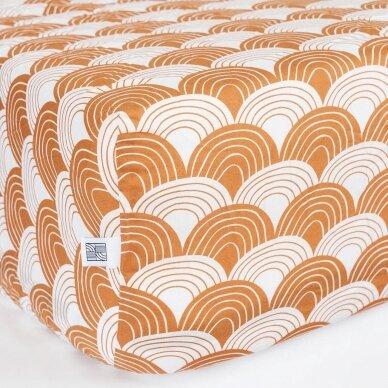"""Swedish Linens paklodė ,,Rainbows: cinnamon"""" (60x120 cm) 3"""
