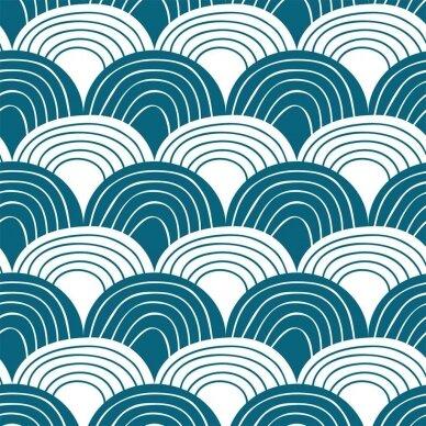 "Swedish Linens paklodė ,,Rainbows: moroccan blue"" 2"