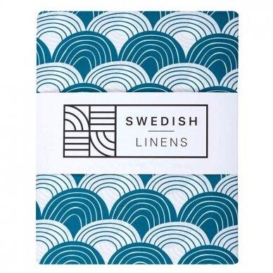 "Swedish Linens paklodė ,,Rainbows: moroccan blue"""