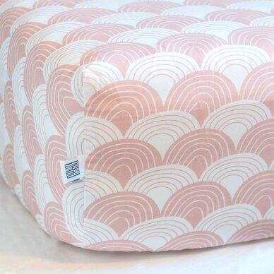Swedish Linens paklodė ,,Rainbows: nudy pink'' (60x120 cm) 3