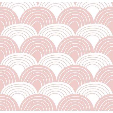 Swedish Linens paklodė ,,Rainbows: nudy pink'' (60x120 cm) 2