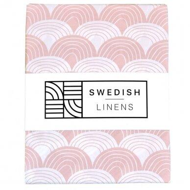Swedish Linens paklodė ,,Rainbows: nudy pink'' (60x120 cm)