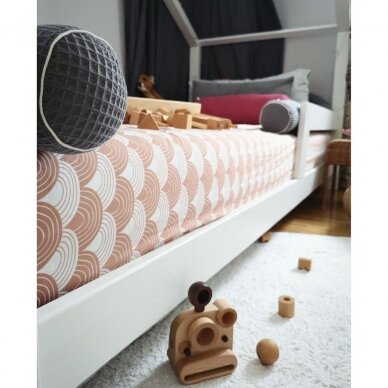 "Swedish Linens paklodė ,,Rainbows: terracotta pink"" 3"