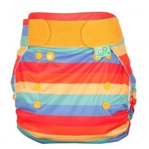 """TotsBots išorinis vystyklas Peenut Wrap ,,Rainbow stripe"""""""