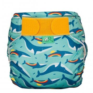 """TotsBots daugkartinės maudymosi sauskelnės ,,Rainbow whale"""""""