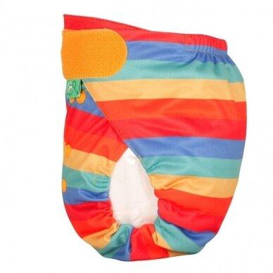 "TotsBots daugkartinės sauskelnės EasyFit ,,Rainbow stripe"" (3.5-16 kg) 3"
