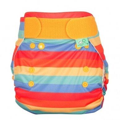 "TotsBots daugkartinės sauskelnės EasyFit ,,Rainbow stripe"" (3.5-16 kg)"