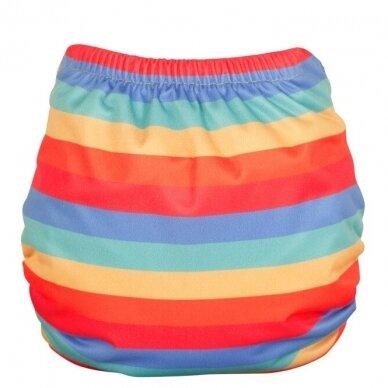 "TotsBots daugkartinės sauskelnės EasyFit ,,Rainbow stripe"" (3.5-16 kg) 2"
