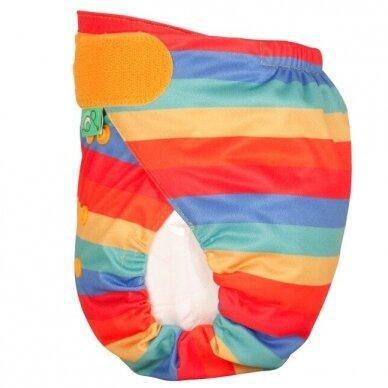 """TotsBots išorinis vystyklas Peenut Wrap ,,Rainbow stripe""""  2"""