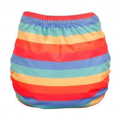 """TotsBots išorinis vystyklas Peenut Wrap ,,Rainbow stripe""""  3"""